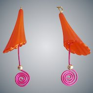 Whimsical Earrings Pierced Spring and Summer Fun