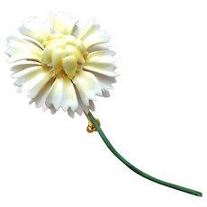 Sandor Enameled Metal Flower Brooch