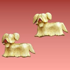 Vintage Scatter Pins Lhasa Apso Darling Doggies 1965