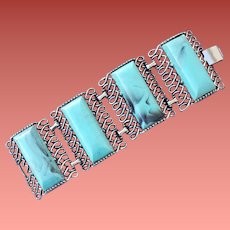 Extra Wide 1950s Cuff Bracelet Mid Century Modern