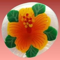 Mother of Pearl Earrings Hawaiian Hibiscus HP