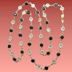 Austrian Crystal Necklace Colette Set Black White