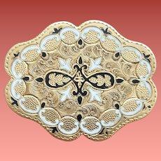 Ornate Victorian Brooch taille d'épargne Gold Filled