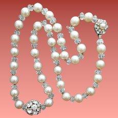 Miriam Haskell Necklace Beads Crystals Rhinestones