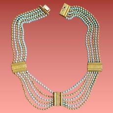 1930s Brass Swag Festoon Necklace Art Deco