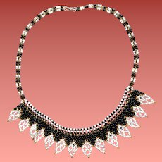 Intricate Seed Bead Necklace DIY 1960s