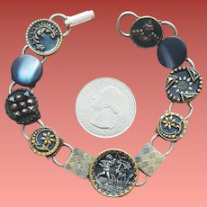 Great Bracelet with Vintage or Antique Buttons