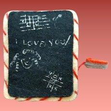 Rare Penny Pin Brooch Chalkboard and Erasure