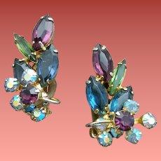 Tara Rhinestone Earrings made by D & E DeLizza & Elster