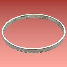 Sterling Silver Bangle Bracelet Taxco 18.3 Grams