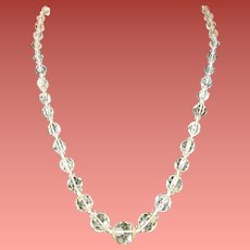 1950s Necklace Cut Crystal in Pastel Yellow Naomi