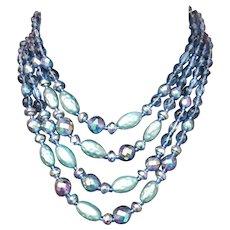 Bodice Filling Vintage Glass Necklace Germany 1960