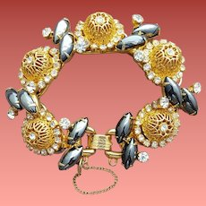 Juliana 5 Link Bracelet Golden Baskets and Hematite
