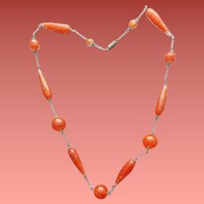 Italian Art Glass Murano Bead Necklace for Fall