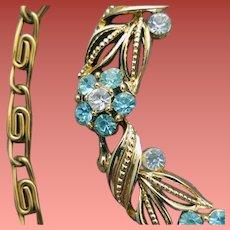 1950s Rhinestone Necklace Lisner Designer Signed