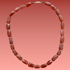 Faceted Carnelian Bead Necklace The Singers Stone