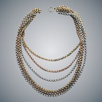 1930s Techno Bib Chain Necklace Steampunk