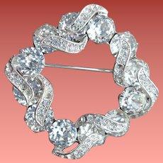 Eisenberg Rhinestone Brooch Amazing Sparkle