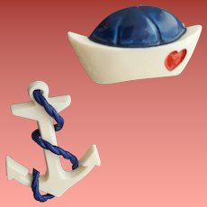 Old Navy Sweetheart Scatter Pins Sailor Hat and Anchor