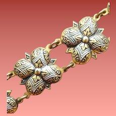 Vintage Toledo Bracelet Damascus Design Spain
