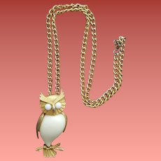 Jelly Belly Owl Necklace 1970s