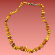 Raw Amber Necklace 75 Beads Lightly Tumbled Unmatched Nuggets
