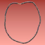 Freshwater Raven's Wing Pearl Necklace Luminous Real Cultured Pearls