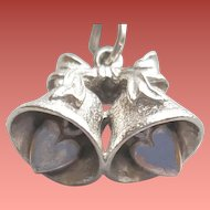 Sterling Silver Bracelet Heirloom Charm Wedding Bells 3.4 grams .925