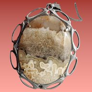 Necklace Mexican Crazy Lace Agate Necklace Lapidary from Mexico