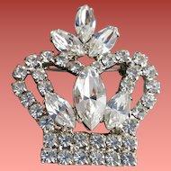 Crystal Rhinestone Crown Brooch Tiara Crystal Diadem Princess Perfect