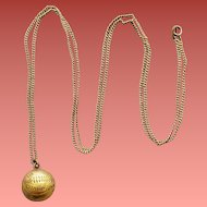 Mystery High School Basketball Champion Necklace from 1940 Charm YGP School Gold Plated
