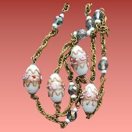 Venetian Murano Bead Necklace Wedding Cake Italian Beads