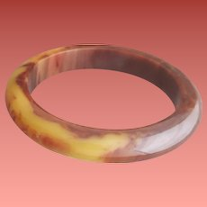 Bakelite Bangle Fat Domed Rich Peanut Butter and Honey