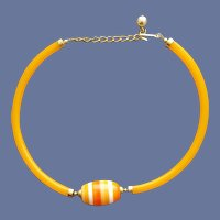 Torc Style Necklace Cellulose Acetate Lucite 1970s