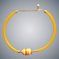 Torc Style Necklace Cellulose Acetate and Lucite 1970s