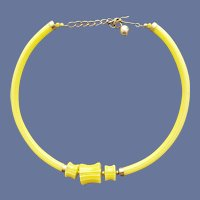 Rare Lucite Tube Necklace Ultra Mod 1970s Torc