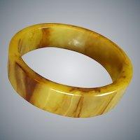 Richly Marbled Bakelite Bangle Bracelet