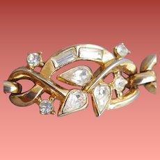 Trifari Brilliant Rhinestone Bracelet 1940s Size Small