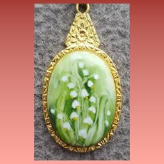 Lily of The Valley Porcelain Necklace Japan