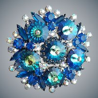 Juliana Brooch Magnificent Blue Margarita Stones