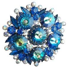 Juliana Brooch Magnificent Blue Margarita Stones