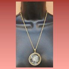 Trifari Intaglio Gemini Necklace May 21st - June 20th