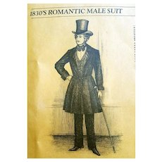 Unique Patterns of Historical Fashions Men's Suit 1830s Jane Austen