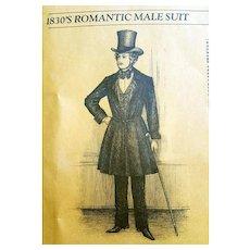 Unique Patterns of Historical Fashions Men's Suit 1830s Jan Austen