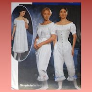 Vintage Sewing Pattern Corset, Chemise, Pantalettes Multi Size 14, 16, 18, 20