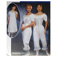 Vintage Sewing Pattern Corset, Chemise, Pantalettes Multi Size 14, 16, 18, 20