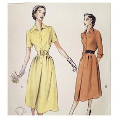 Vintage Dress Sewing Pattern 1950s Classic Bust 32 Size Small