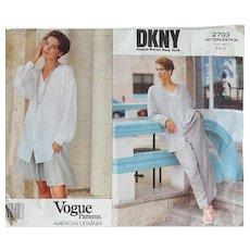 Vogue 2703 Donna Karan New York Sewing Pattern Sizes 6-8-10