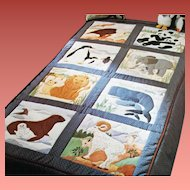 Muslin Quilt Squares for Peaceable Kingdom Quilt Mint Fabric