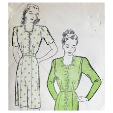 1940s Sewing Pattern Dress Size Extra Large Bust 44